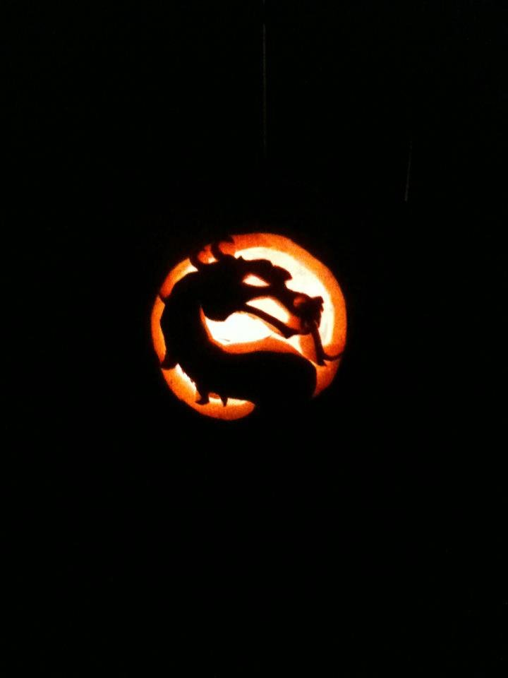 2011- My Youngest neice's Mortal Kombat pumpkin, as carved by my brother in law