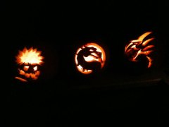 2011- My Nieces and Nephew's Pumpkins as carved by my Bro-in-law