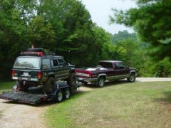 Camp Jeep  Tow rig and Jeep