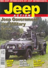 Jeep Action Nov. issue 2009 cover