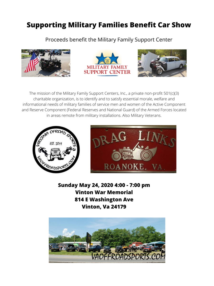 Supporting Military Families Car Show 2020